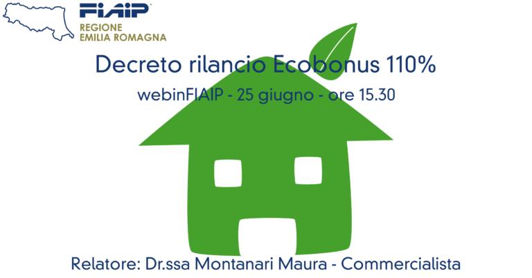 WebinFIAIP – 25/06/2020 | Decreto rilancio Ecobonus 110%