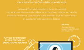 EMILIA ROMAGNA – WebinFIAIP   14/12/2020  Webmarketing ai tempi del covid: come migliorare la propria posizione sul web