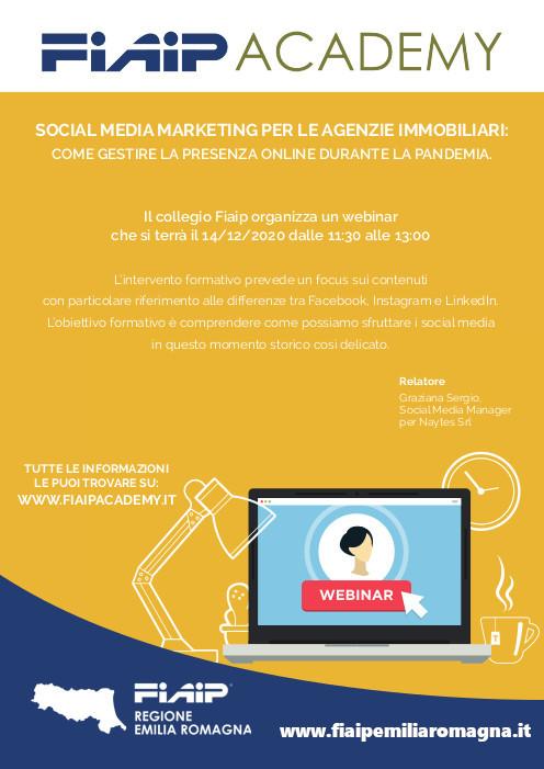 EMILIA ROMAGNA – WebinFIAIP | 14/12/2020  Webmarketing ai tempi del covid: come migliorare la propria posizione sul web