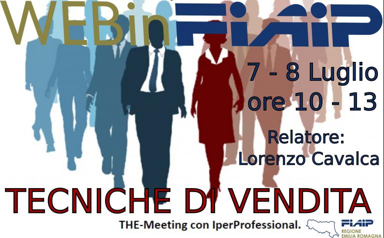 WEBinFIAIP ER  7-8/07/2021 | Tecniche di Vendita