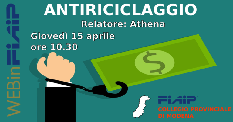 webinFIAIP MODENA – 15/04/2021 | Antiriciclaggio