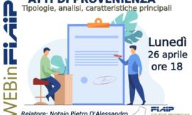 WEBinFIAIP – PARMA 26/04/2021   ATTI DI PROVENIENZA